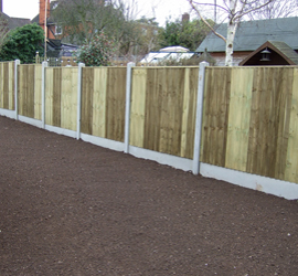 Smooth Finish Gravel Boards with Close board Panels