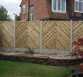 Rockface Gravel Boards with Decorative Fencing